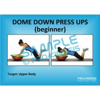 Dome (Bosu) Down Press Ups (beginner)