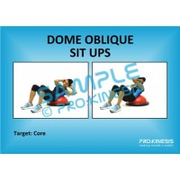 Dome (Bosu) Oblique Sit Ups